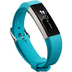 Zodaca for Fitbit Alta - TPU Rubber Wristband Replacement Sports Watch Wrist Band Strap Metal Buckle Clasp - Turquoise
