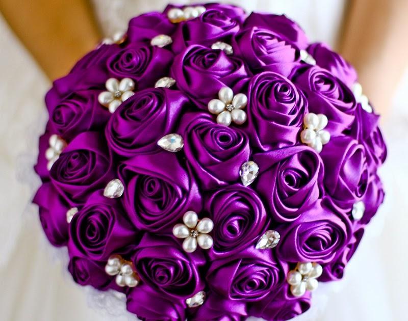 Bouquet Sposa Prezzi 2018.Martrar Comprare Viola Wedding Bouquet Sposa Perle Royal Blue