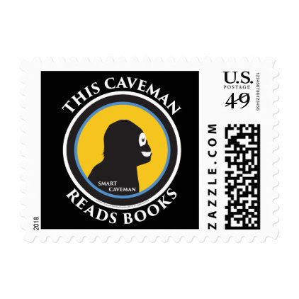 $0.49 Postage Stamps Smart Caveman Reads Books