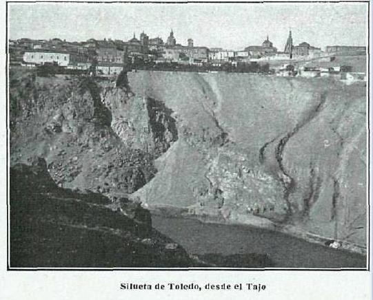 Toledo visto desde el Cerro de la Virgen de la Cabeza. Fotografía de Kurt Hielscher publicada en La Esfera en junio de 1916
