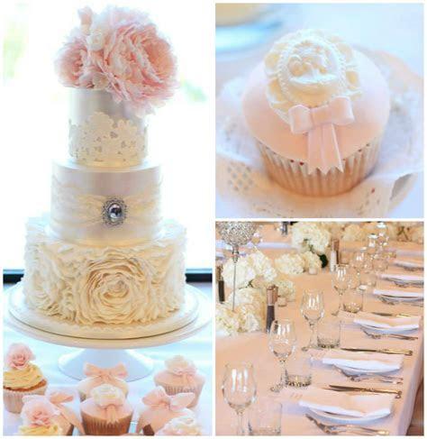 Kara's Party Ideas Pink   Gold Wedding Dessert Table