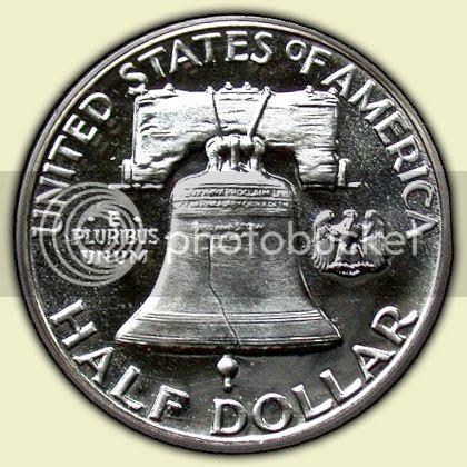 1955 Franklin Half Reverse