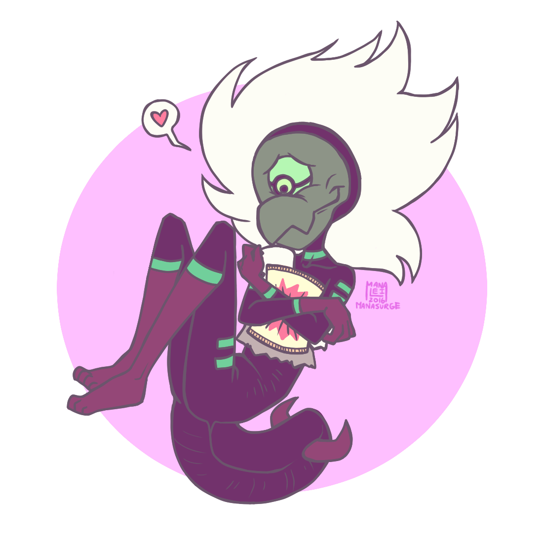 Some soft Centipeedle, letting you know to hold onto the good things in life, even if they are small. (A lesson I'm trying to keep telling to myself too, despite all the bad things that keep...