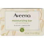 Aveeno Moisturizing Bar Soap, Fragrance Free, 3.5 oz
