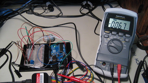 Digital Voltmeter: Programmed 0% PWM Duty Cycle