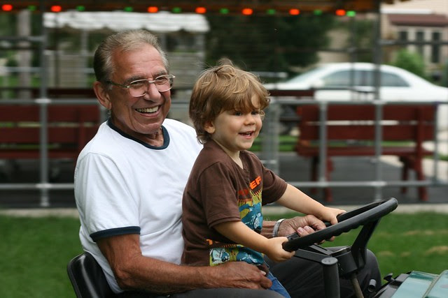 Grampa and Oliver
