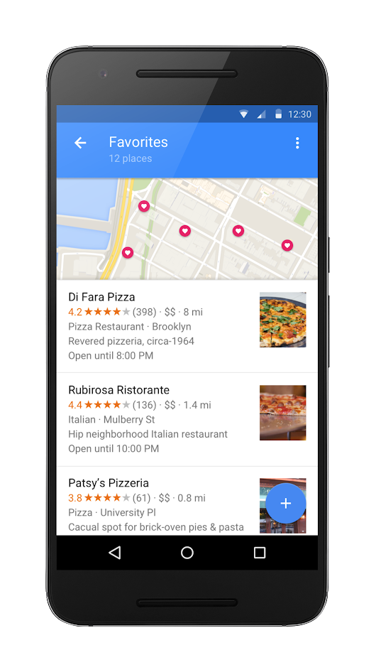 Early access: Save lists of places in Google Maps