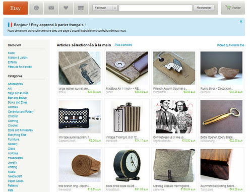 La casa a Pois on the front Page of Etsy France by la casa a pois