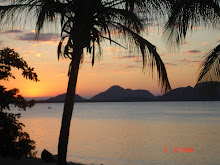 Sunset over the Lake from Volunteer House in Malawi