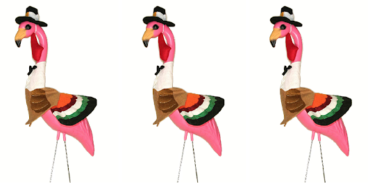 You Can't Be In A Fowl Mood After Seeing These Thanksgiving Flamingos