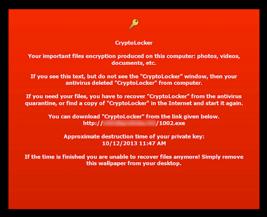 New ransomware, CryptoLocker, demands ransom to unlock your files