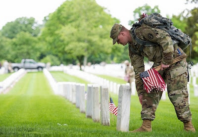 'Old Guard' Soldiers Salute Fallen With 'Flags In' Tribute