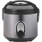 SPT - 4-Cup Rice Cooker - Silver/Black