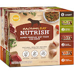 Rachael Ray Nutrish Natural Hearty Beef Stew, Chicken Paw Pie & Savory Lamb Stew Variety Pack Wet Dog Food, 8 oz., Pack of 6