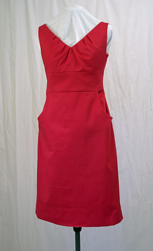 Red dress Butterick