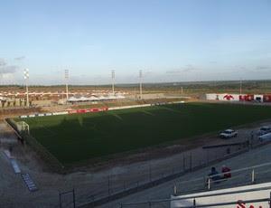 Estádio Barretão, em Ceará-Mirim - panorâmica do estádio (Foto: Jocaff Souza)