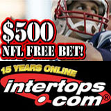 Intertops Sportsbook NFL bets on NFL football and Super Bowl contest