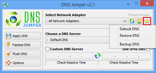 Free Download Dns Jumper - improve browsing speed and security