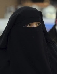 A tiny minority of Muslims wear veils in France.