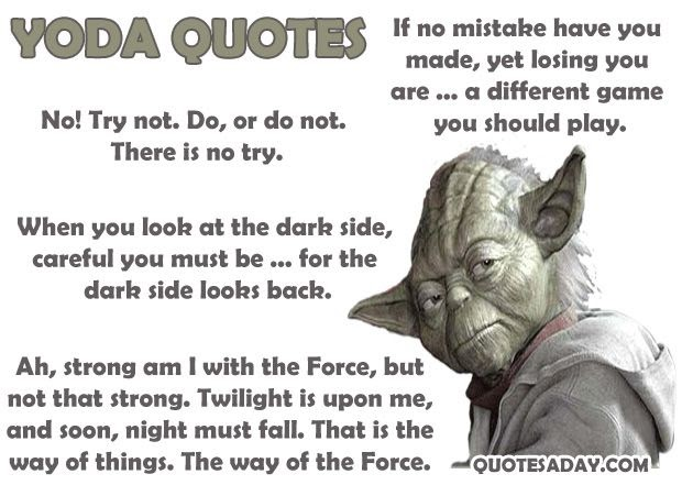 This is a good quote... 8x10 Star Wars Photo Minifigure ... |Star Wars Best Quotes Ever