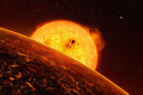 Ilustración de CoRot-7b. | ESO/L. Calcada.
