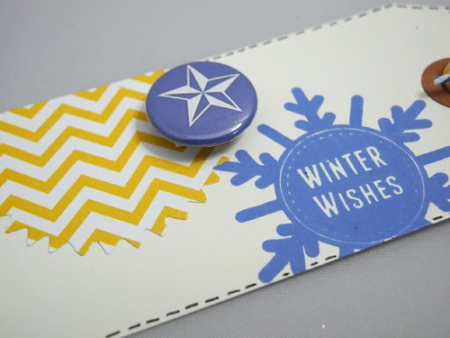 Winter Wishes tag (detail)