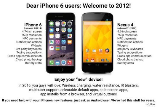 Android fans mock the iPhone 6's 2012-era specs