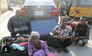 » Lagos Couple, Their Son And His Girlfriend Arrested For Stealing (Photo)