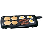 Dollar Days 07030 Blk Cool Touch Griddle Pack of 3, Blk