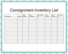 yard sale inventory list template   Daily Update Interior House ...