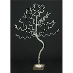 My Favorite Beads 143192PMM345 Medium Tall Silver Jewelry Tree on Slate, Metal Type