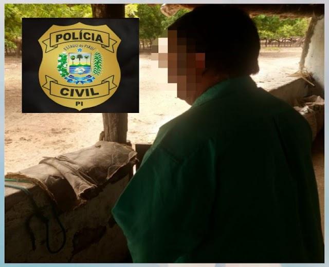 Polícia Civil prende idoso acusado de estuprar duas netas na cidade de Piripiri