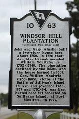 Windsor Hill Plantation Historical Marker - side 2