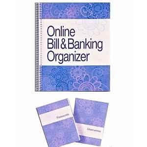 bill organizer notebook online banking bill organizer
