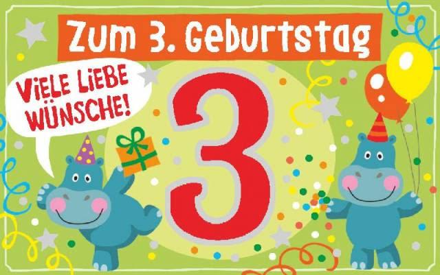 Geburtstagskarte 3 Jahre