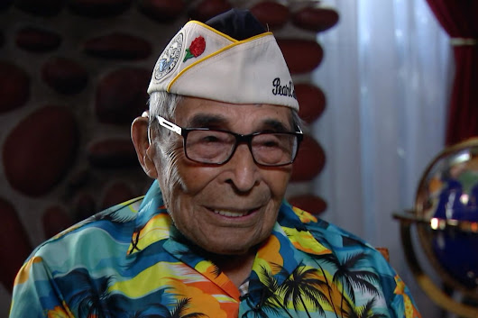 Oldest known Pearl Harbor survivor, 104, returns to honor the fallen