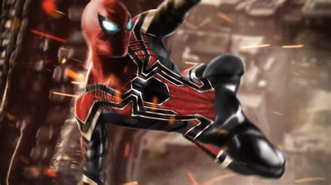 iron spider man jump   wallpaper  desktop