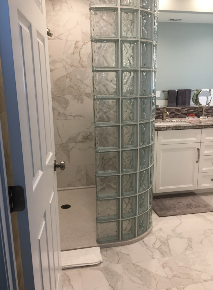 Glass block shower wall planning and installation – 5 ...