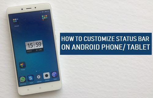 How to Customize Status Bar on Android Phone or Tablet