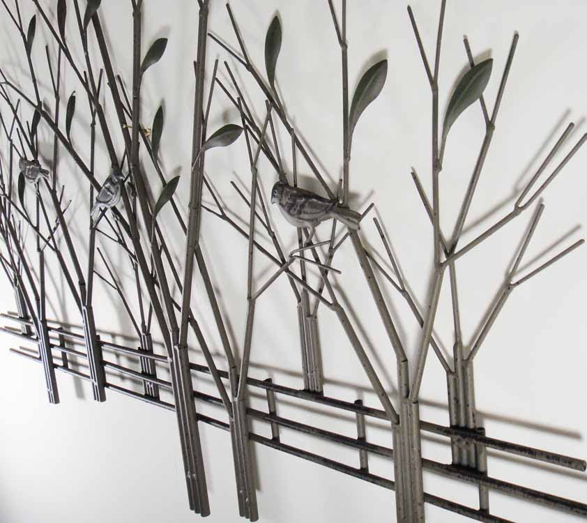 Large Contemporary Metal Wall Art Decor Or Sculpture ...