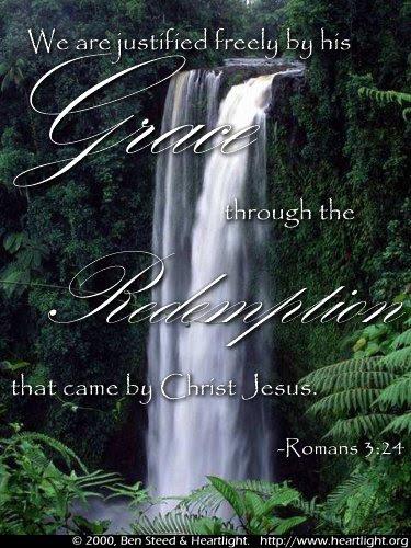 Inspirational illustration of Romans 3:24