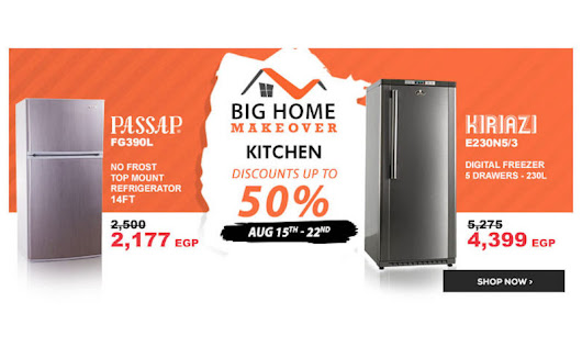 50% Off Kitchen electronics at JUMIA Egypt for Home Makeovers