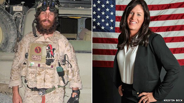 Chris Beck in Iraq, and as Kristin