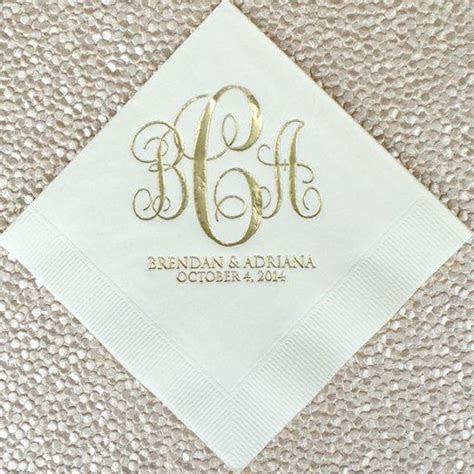 Best 25  Wedding cocktail napkins ideas on Pinterest