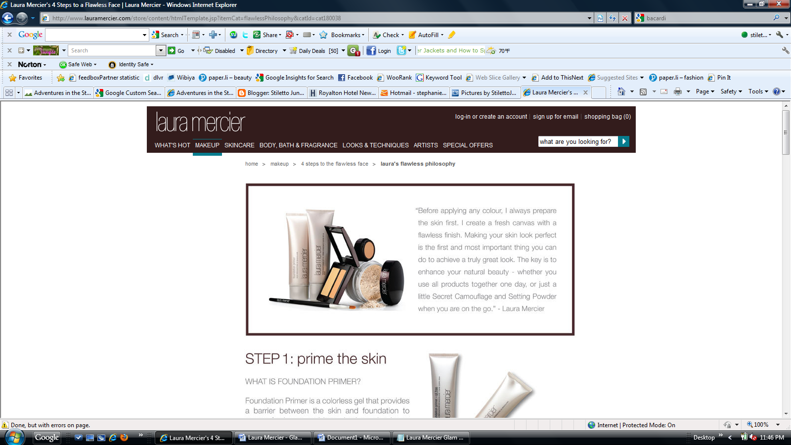 Laura Mercier Flawless Face - The Flawless Face Philosophy