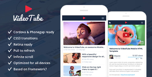 Download VideoTube - Responsive Mobile Template nulled | OXO-NULLED
