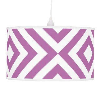 Lavender and White Chevrons Hanging Pendant Lamps