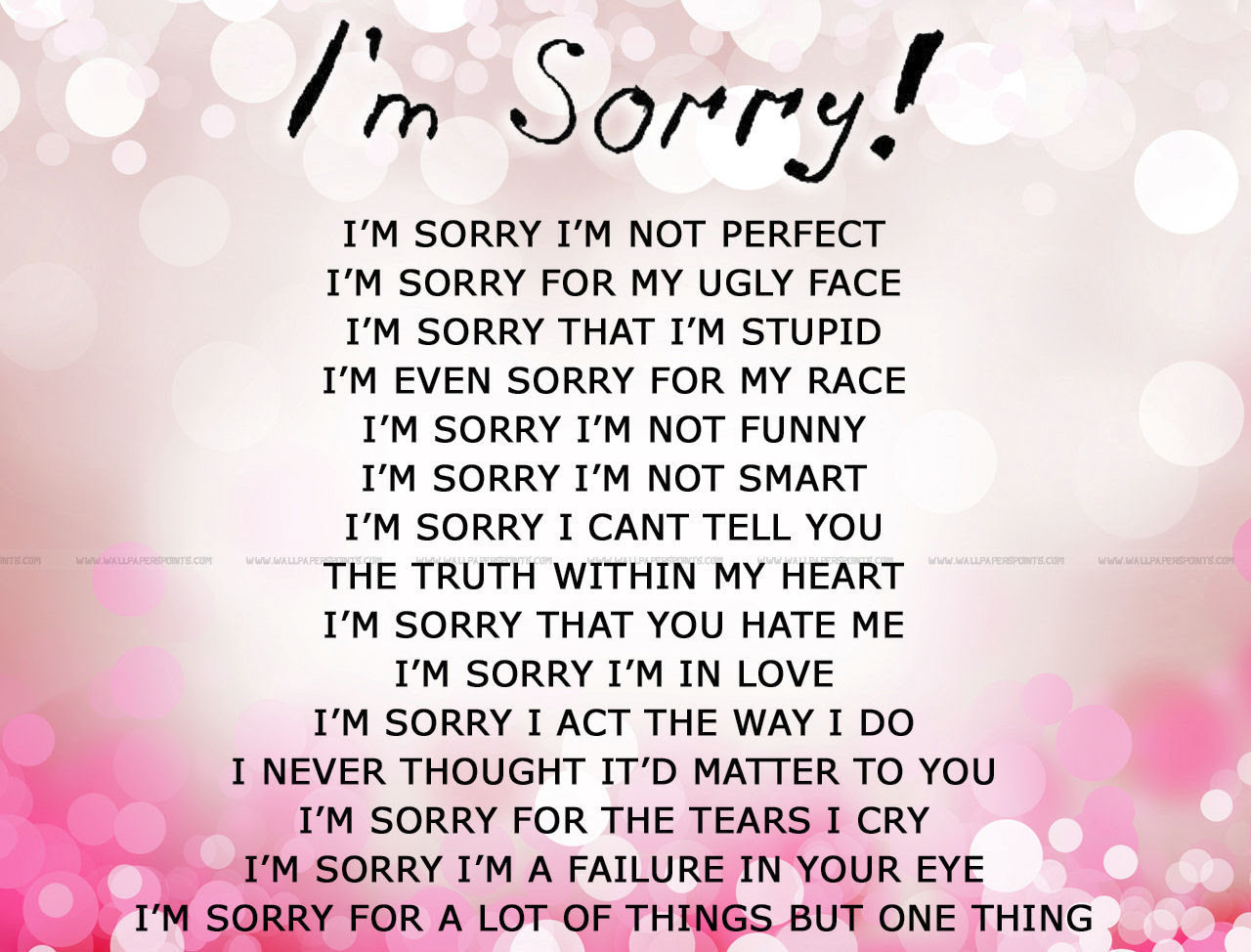 Quotes About Sorry For Him 60 Quotes