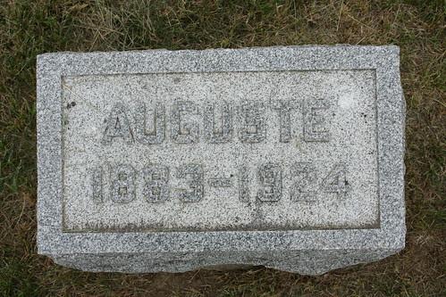 Tombstone of Auguste Kiesel