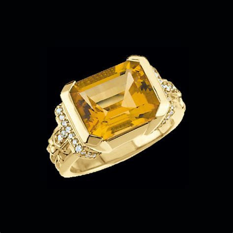 Citrine & Diamond Ring at GraciousRose.com